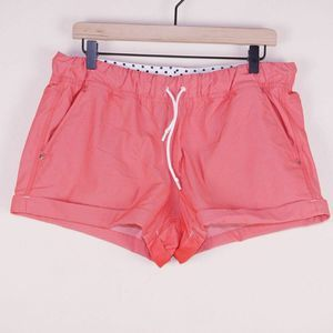 Lululemon Play All Day Cuffed Love Red Shorts 12